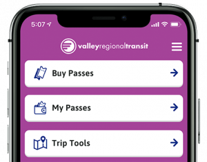Buy passes on Valley Connect App